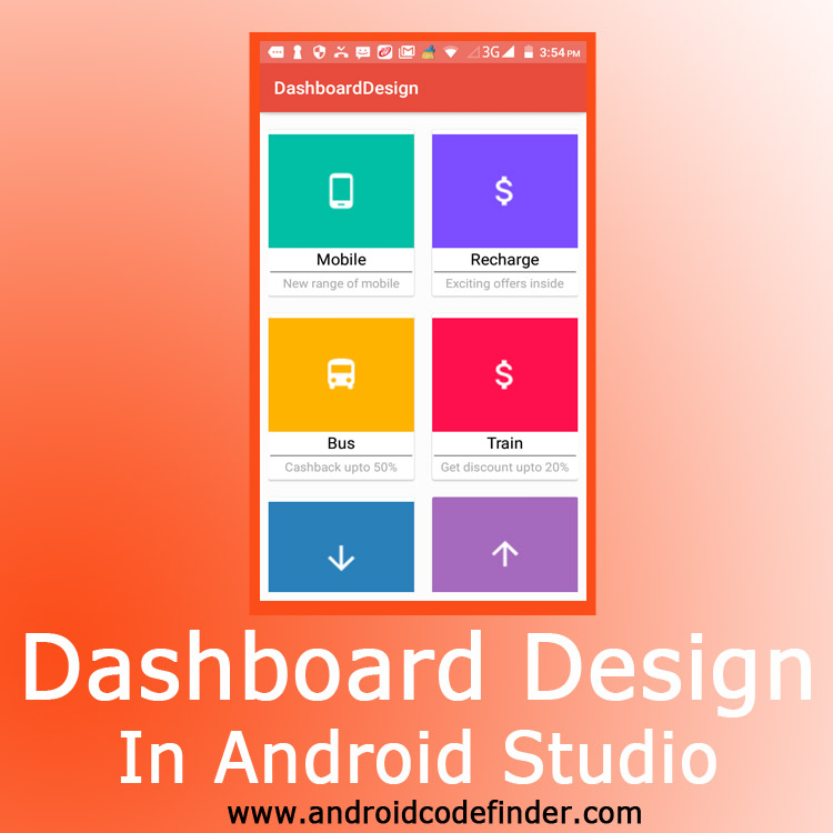 Dashboard design android studio android code finder Home design android