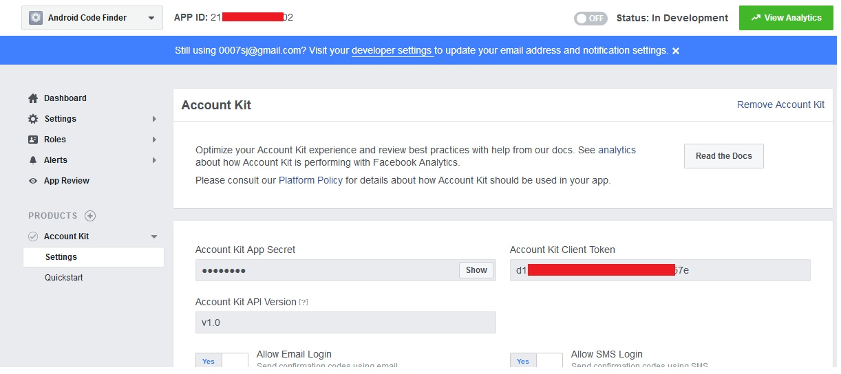 Facebook Account Kit For Android