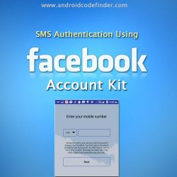 Facebook Account Kit Main