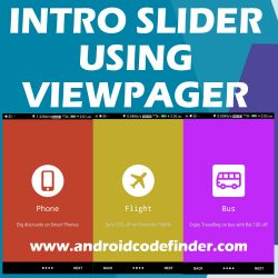 build intro slider using viewpager