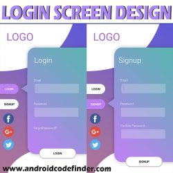 login screen deisgn using android studio