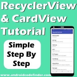 Android Working with Recyclerview and Cardview