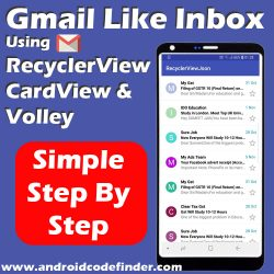 Gmail Like Inbox By JSON Parsing Using RecyclerView CardView and Volley