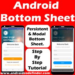 Android Bottom sheet